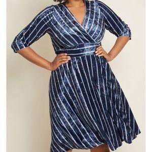Modcloth Chic Company Velvet Dress